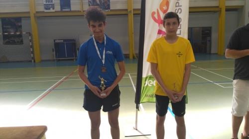 Billal, 3ème minimes garçons nationaux A 2018