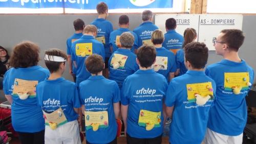 La délégation de l'UFOLEP Yonne aux 12h 2018