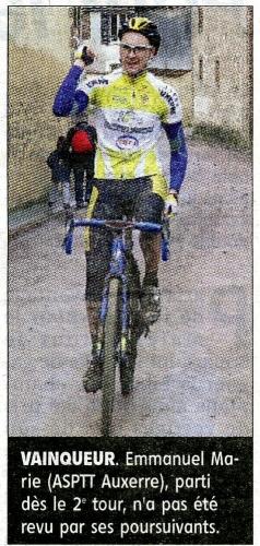 Emmanuel Marie, champion de Bourgogne 2018  FC toutes catégories en cyclo-cross. Source YR