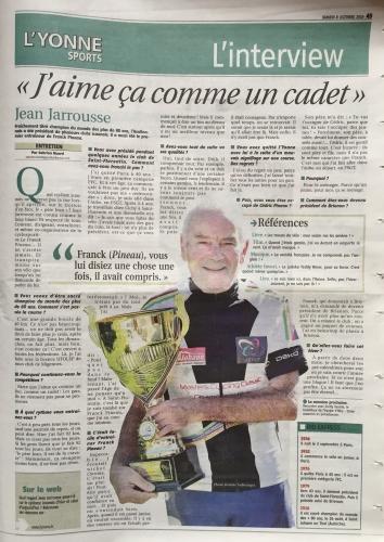 Jean Jarousse - GSb - Champion du monde 2016 en Autriche avec l'ASUC MIGENNES. Source YR-Club Clamecy en 2018