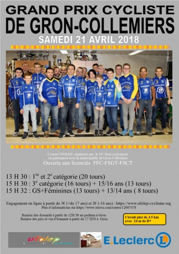 D course de GRON samedi 21 avril 2018