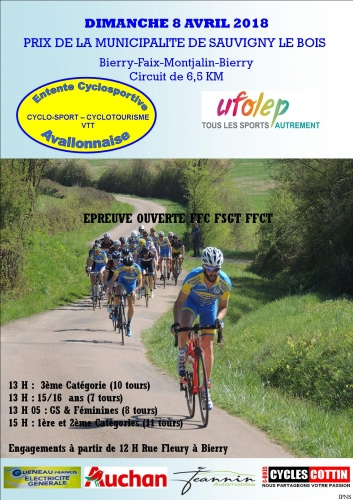 B course Sauvigny-le-Bois dimanche 8 avril 2018